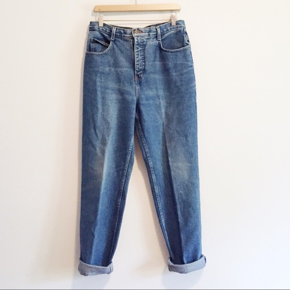 Vintage Denim - Vintage Jeansworks high waisted mom jeans med wash